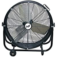 Comfort Zone Industrial Drum Fan | 24 Barrel Direct Drive - 2 Speed, All Metal, High Velocity Fan