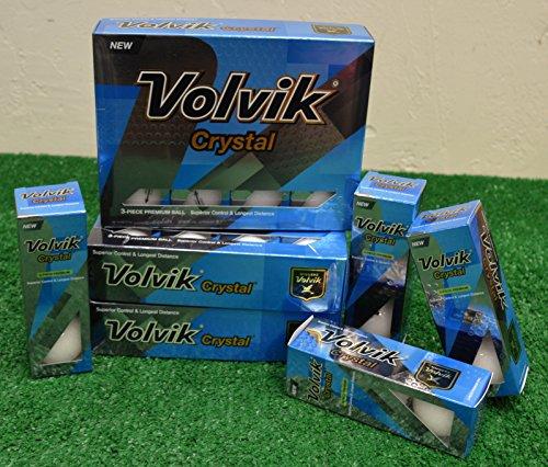4 Dozen Volvik Crystal White Golf Balls - New in Box by Volvik (Image #1)