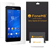 FoneM8® - Sony Xperia Z3 Compact Front And Back Screen Protector (Pack Of 6) Includes 3 Front, 3 Rear - Retail Packed With Microfibre Cleaning Cloth And Application Card