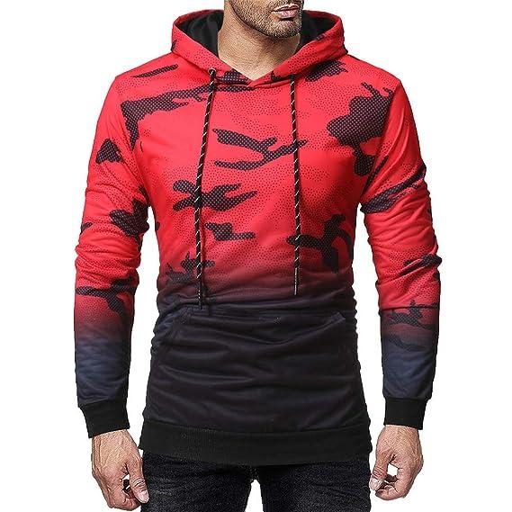 Yvelands Camisa de Camuflaje de los Hombres Sudadera con Capucha de Cremallera Completa Blusa de Manga Larga con Capucha Superior: Amazon.es: Ropa y ...