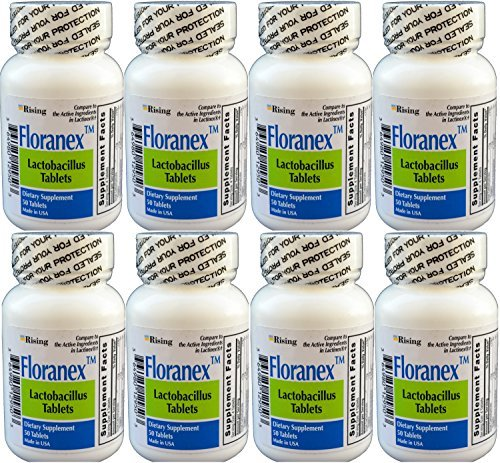 or Colon Health Generic for Lactinex 50 Tablets per Bottle Pack of 8 Total 400 Tablets by RISING PHARMACEUTICALS ()