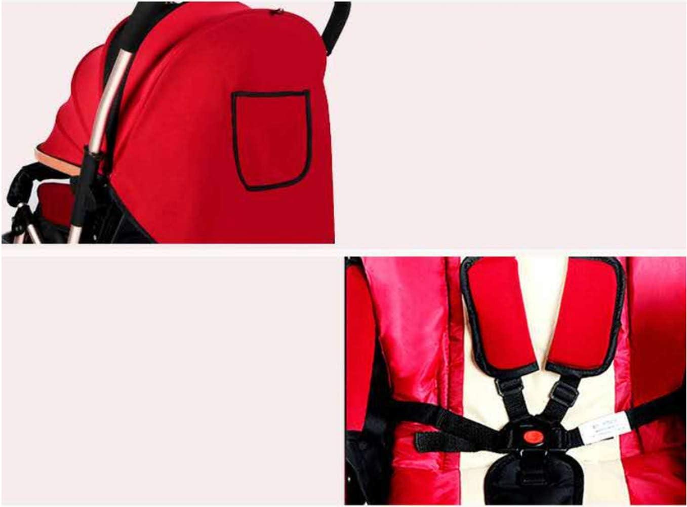 LNDD-Klappkinderwagen 4-Rad-Kinderwagen Multifunktions Tragbare Sto/ßstange Sto/ßstange Einkaufskorb 5-Punkt-Sicherheitsgurt Verstellbare R/ückenlehne Sto/ßd/ämpfung Design