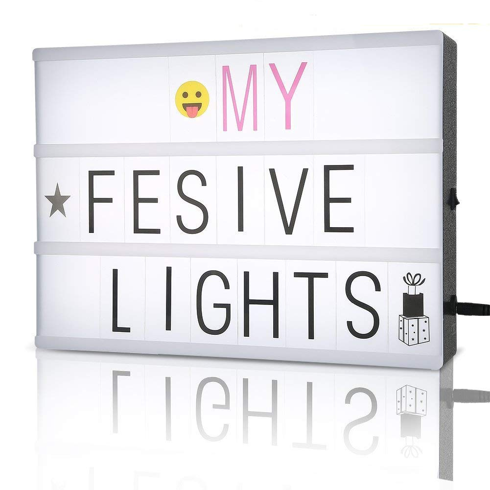 light box, cinematic lightbox / A4 message light box / Cinema Box with 350 letters,numbers and symbols by FSC by FSC Lighting
