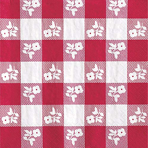 18-Count Paper Lunch Napkins, Red Gingham