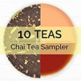 Chai Tea Sampler , 10 TEAS, India's Original Masala Chai Tea Blends (50 Cups), 100% Natural Ingredients - Grown, Blended & Shipped Direct from Source in India, Authentic Chai Tea Loose Leaf