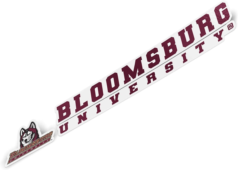 8 Inch Sticker Bloomsburg University Huskies NCAA Name Logo Vinyl Decal Laptop Water Bottle Car Scrapbook