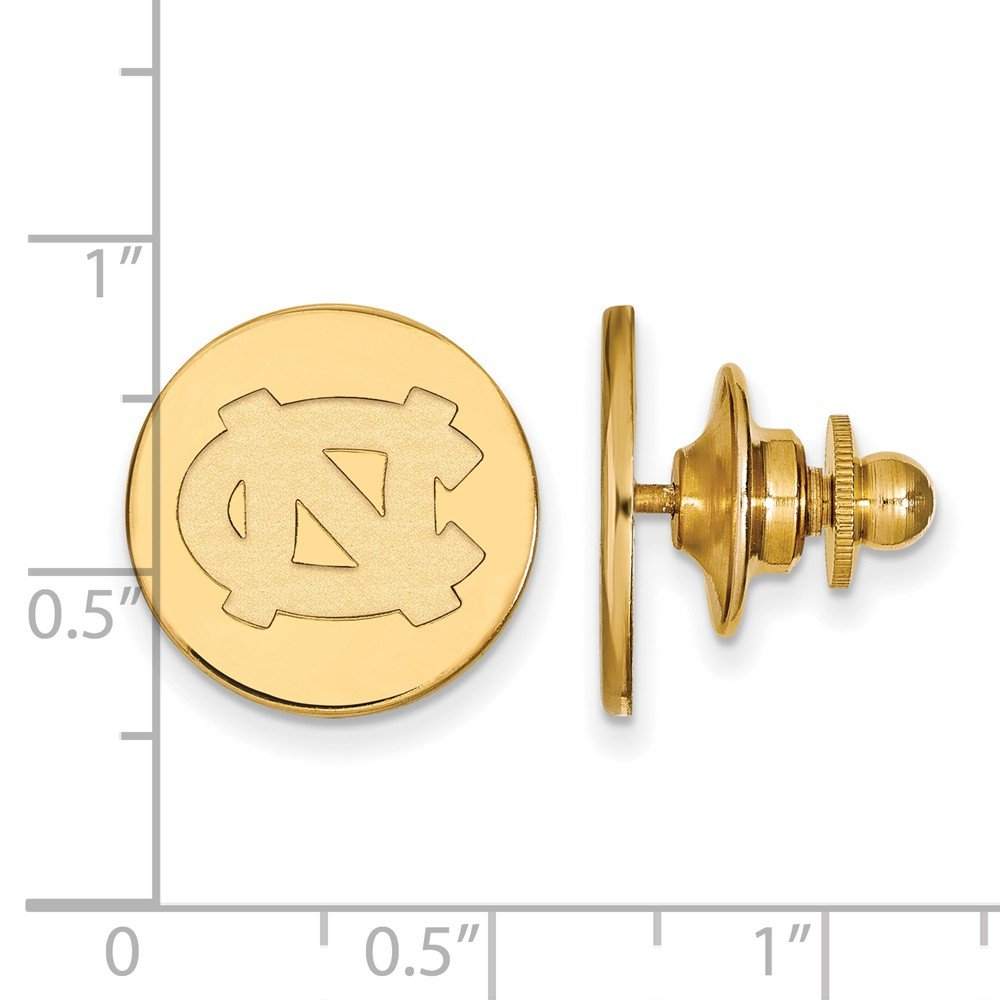 Solid 14k Yellow Gold University of North Carolina Tie Tac by Sonia Jewels (Image #1)