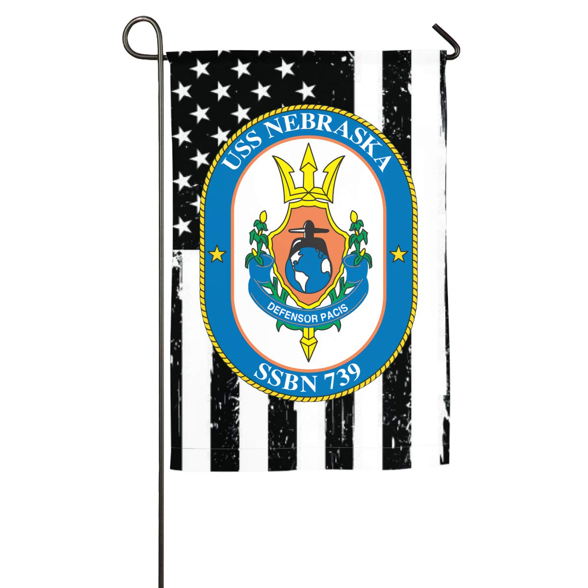 Navy USS Nebraska SSBN-739 Yard Flag Patio Garden Flags Outdoor Banner 18