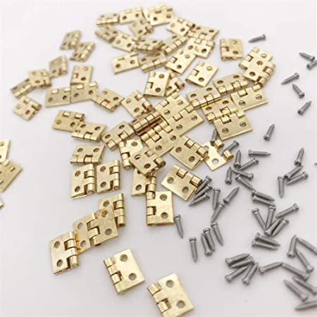 48Pcs Screws Doll House DIY Mini Assembly Metal Mini Door Hardware 2# FAgdsyigao Kids Dollhouse Miniatures Toy,12Pcs Hinge