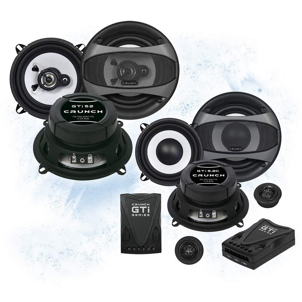 crunch front heck 13cm 130mm auto lautsprecher boxen speaker komplett set kompatibel f r renault. Black Bedroom Furniture Sets. Home Design Ideas