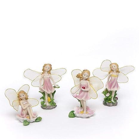 Matecam Feen Figuren Verschiedene Miniatur Figuren Mit Blumen
