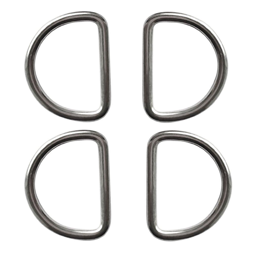 Sharplace D Ringe Edelstahl Halbringe G/ürtelschnalle Rucksack D Ring 4 St/ück Packung