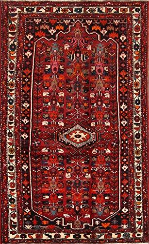 Rug Source Vintage Classical Hand Knotted Geometric Tribal 7 Malayer Hamedan Persian Area Rug (6' 10