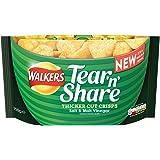 Walkers Tear & Share Salt and Malt Vinegar Thicker Cut Crisps 150 g (Pack of 6)