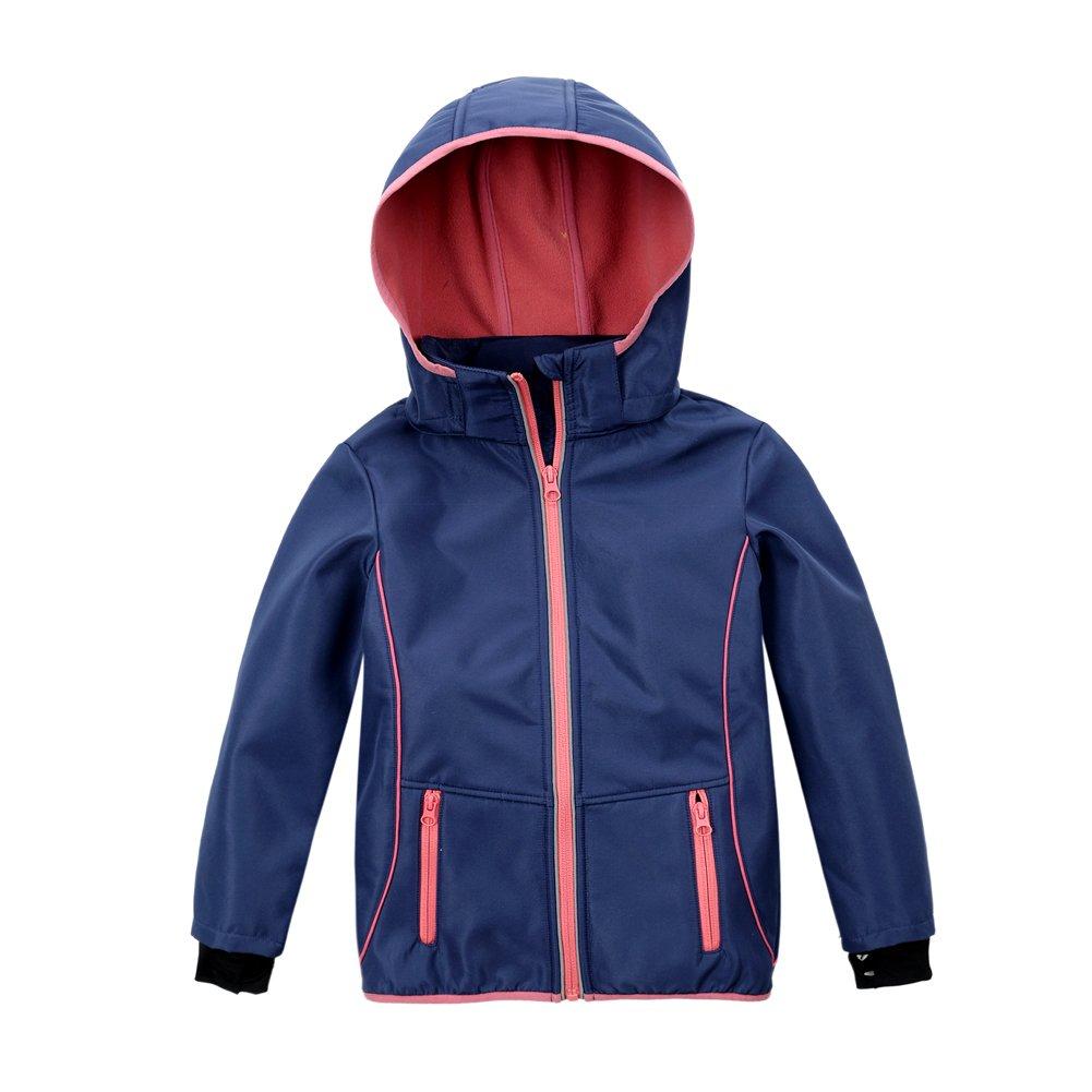 M2C Girls Hooded Fleece Lined Waterproof Windproof Jacket 8/9 Blue