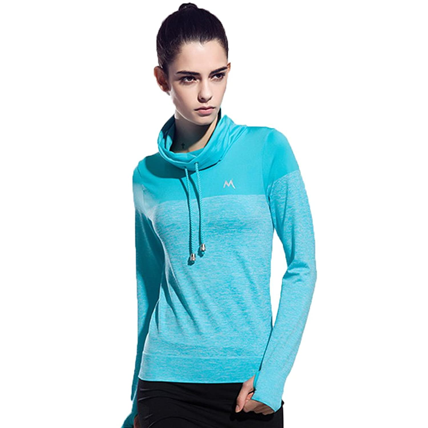 Turtle Collar Sport Long Sleeve Shirt Running Fitness Quick Dry Athletic T-Shirts