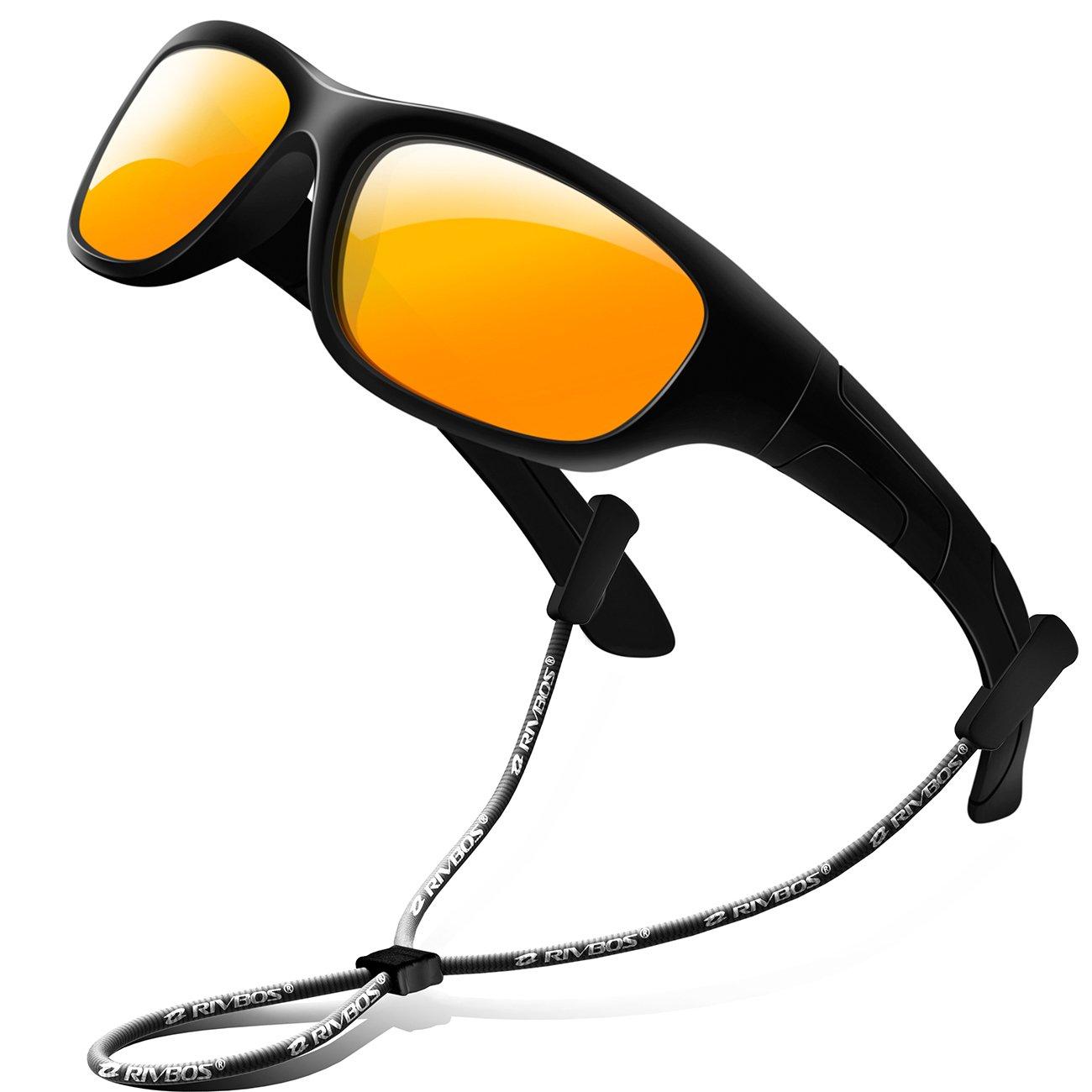 RIVBOS Rubber Kids Polarized Sunglasses for Boys Girls Children Age 3-10 RBK025-2