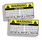 Funny Car Safety Warning Rules Sticker Adhesive Vinyl for Vehicle Window Graphic Bumper