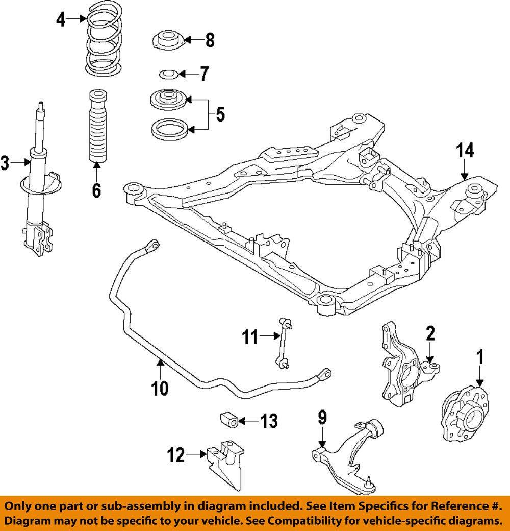 Nissan E4302-1JA0D Strut Kit Ft Rh