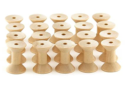 amazon com hygloss products wooden spools for arts and crafts