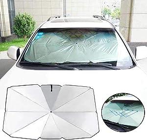GFULLOV Car SunshadeUmbrella-Foldable Car Summer Sunscreen Cooling Sunshade Front Window Windshield Sun Shade for Auto Vehicle Shield Trucks Cars