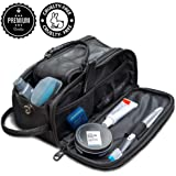 Toiletry Bag for Men or Women - Dopp Kit For Travel. Cruelty Free Toiletries Organiser PU Leather Bags