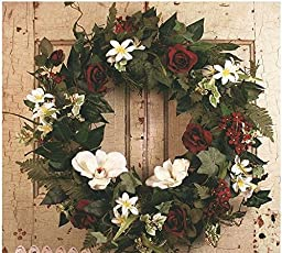 Romantic Rose Front Door Wreath