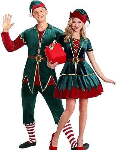 HEITIGN Disfraz De Duende De Navidad, Lujoso Y Hermoso Disfraz De ...