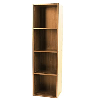 Shelving Bookcase3 4 Tier Wooden Bookcase Stand Cube Storage Unit Bookshelf CD Display