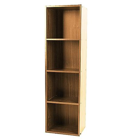 Wonderful Shelving Bookcase,3, 4 Tier Wooden Bookcase Stand Cube Storage Unit  Bookshelf CD Display
