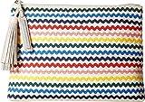 Loeffler Randall Women's Tassel Pouch, Rainbow, One Size