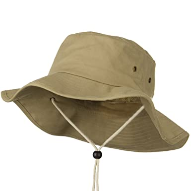 b9f4914ccf2b5f Big Size Cotton Australian Hat - Khaki 7-3-4 at Amazon Men's ...