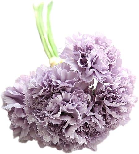 Bouquet Sposa Garofani.Weimay Bouquet Da Sposa Simulazione Fiore Viola Garofani Per