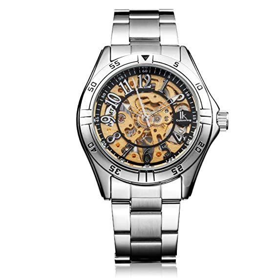 Dos caras de la plantilla manual reloj mecánico/Relojes de los hombres/Reloj casual de los hombres-A: Amazon.es: Relojes