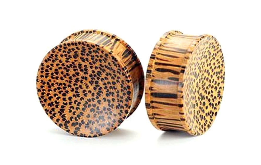 Coconut Solid Wood Plug - Organic Body Jewelry 4mm up to 51mm - Price Per 1-32mm ~ 1-1/4''