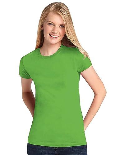 Lap shoulder style t-shirt adult