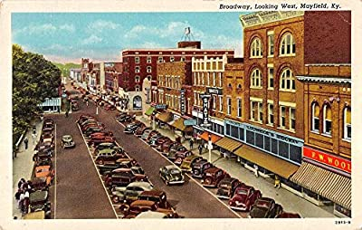 Mayfield Kentucky Broadway Store Fronts Street View Antique Postcard K21971