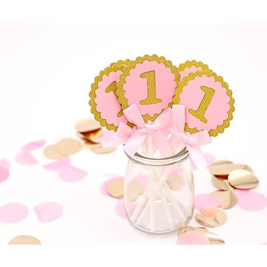 Adornos para tartas, 10 piezas, decoración para el primer ...