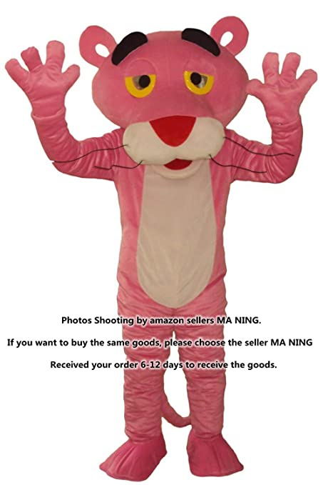 new pink panther mascot costumes fancy dress suit halloween cartoon