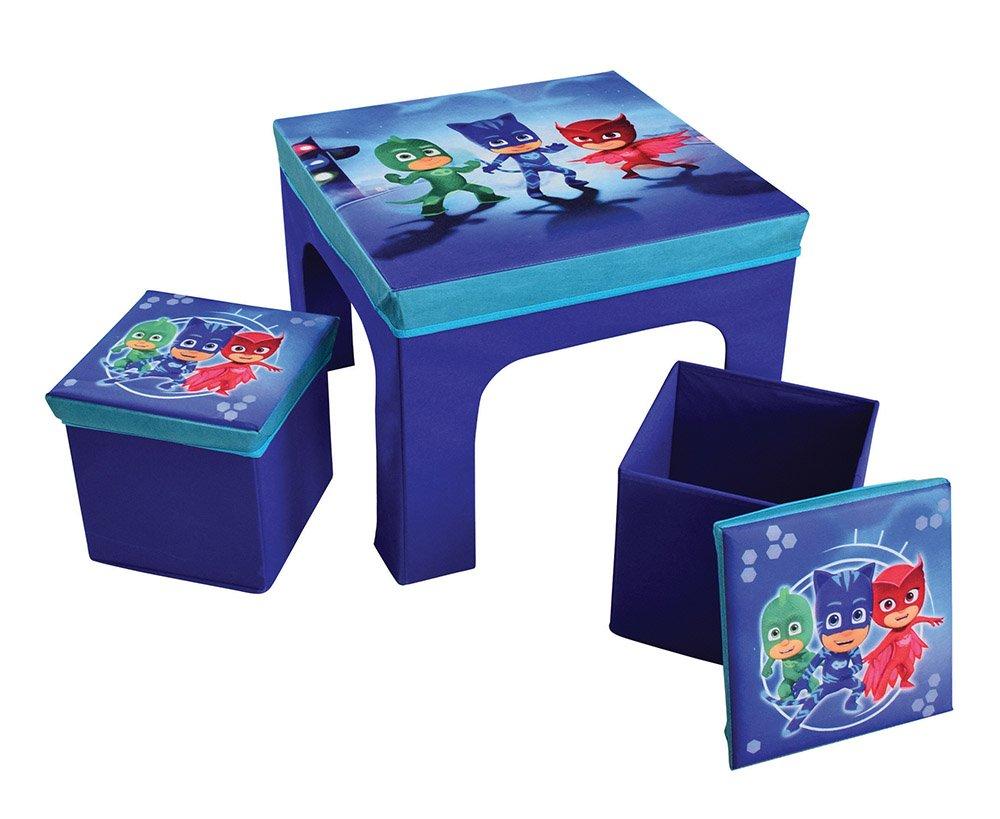 FUN HOUSE pyjamsques tavolo con 2sgabelli pieghevole per bambini, MDF/in tessuto non tessuto, 52x 52x 15cm CIJEP 712872