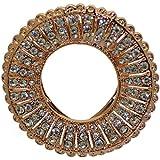 CAMELLIA couleur or cristal bague écharpe clip / broche