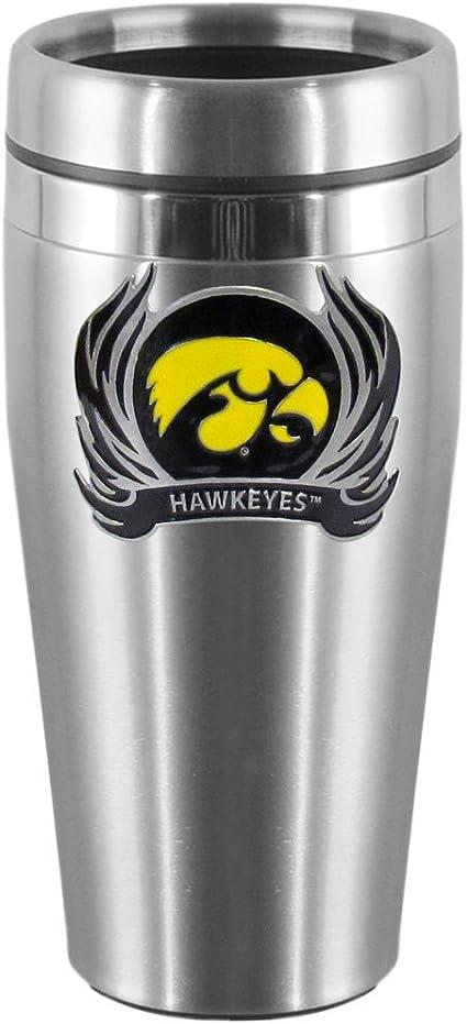 NCAA Iowa Hawkeyes Polka Dot Travel Mug