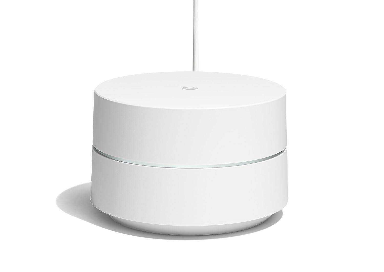 Google Wifi, router inalámbrico, diseño minimalista