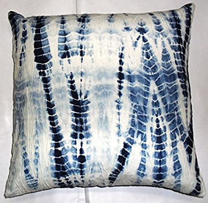 Amazon Com Indigo Pillows Tie Dye Cushion Cover 16x16 Decorative