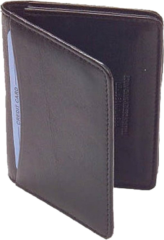 MW30070-BK Genuine New Leather Credit Card Holder ID Window 2.75 x 4