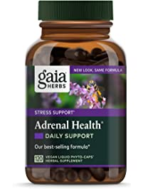 Gaia Herbs Adrenal Health Daily Support, Stress Relief and Adrenal Fatigue Supplement, Holy Basil, Ashwagandha, Rhodiola...