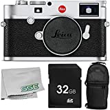 Leica M10 Digital Rangefinder Camera (Silver) with 3PC Accessory Bundle – Includes 32GB SD Memory Card + Sling Backpack + Microfiber Cleaning Cloth