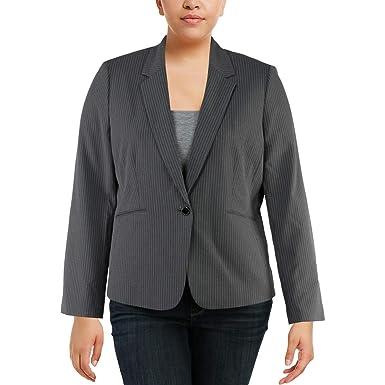 19b2ba8e528 Tahari ASL Womens Pinstripe Office One-Button Blazer at Amazon Women s  Clothing store