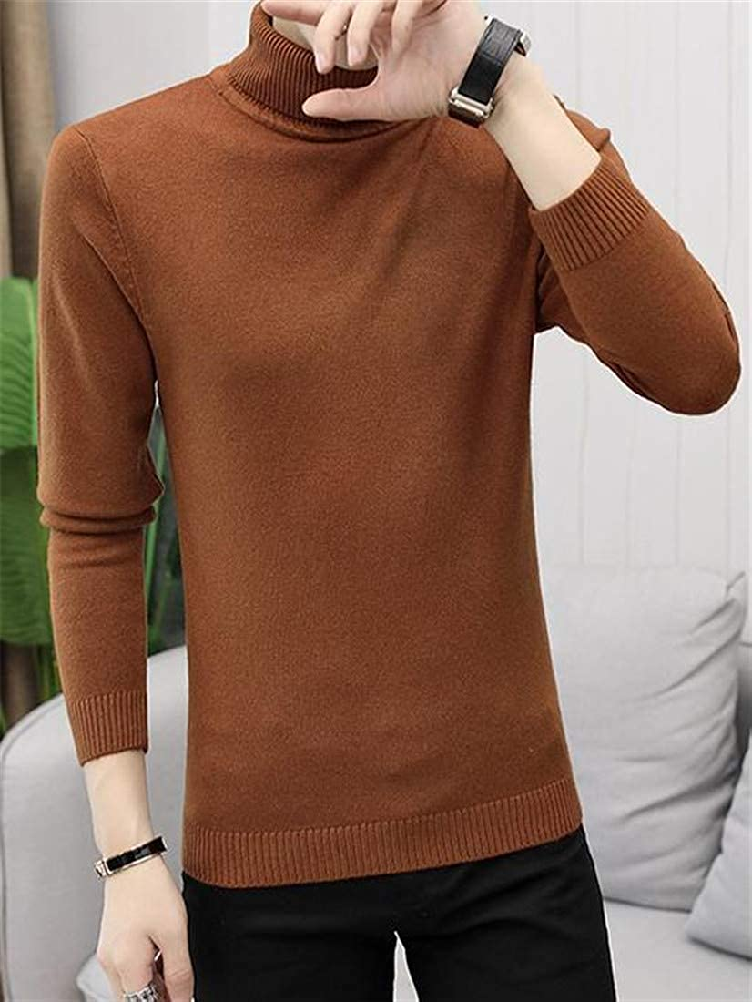 Etecredpow Men Winter Turtleneck Knit Warm Casual Pullover Sweater Jumper