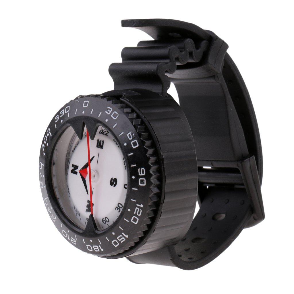 MagiDeal Tauchkompass mit Armband für Tauchen, Schnorcheln, Speerfischen, Camping, Wandern, Radfahren usw.
